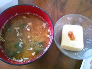 味噌汁とひよこ豆豆腐