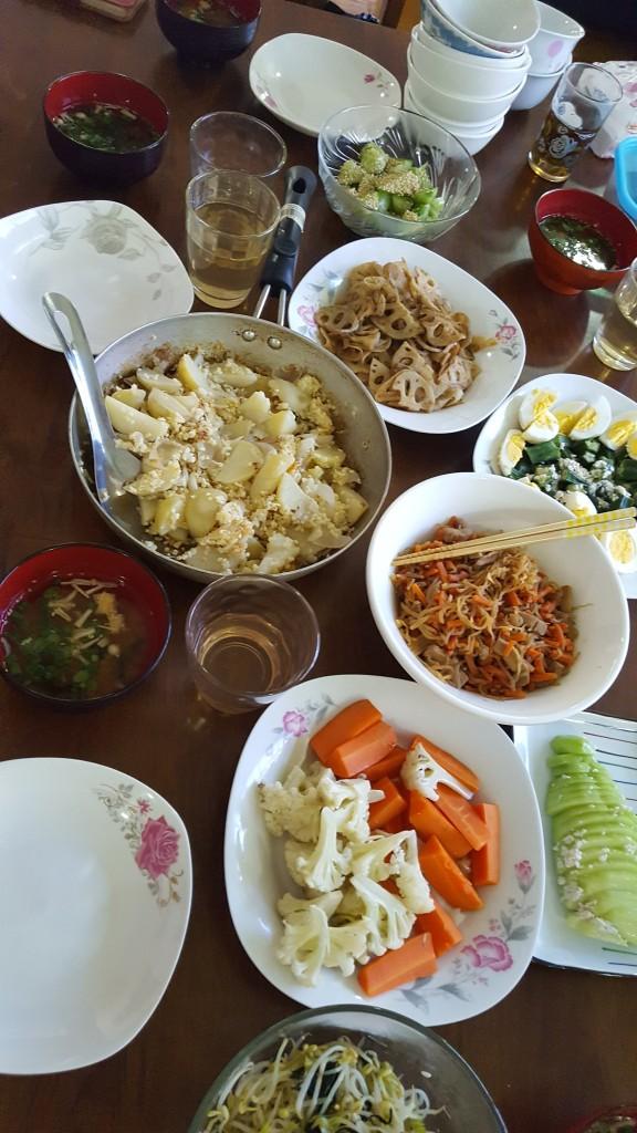 味噌づくりの会料理