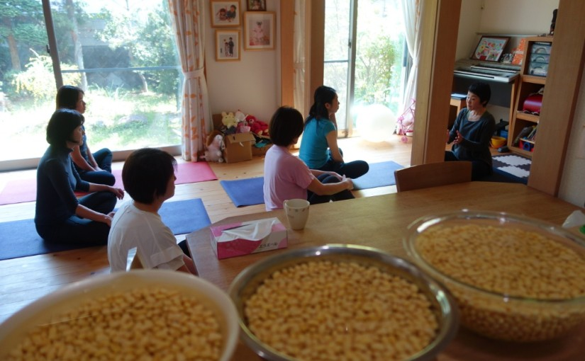 【開催レポ♪】4/22ヨーガと味噌づくりの会
